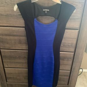 Express black and blue dress. Size 0
